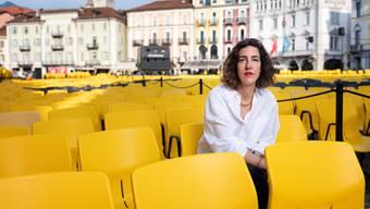 Lili Hinstin bei der letztjährigen Ausgabe des Locarno Film Festival auf der Piazza Grande.