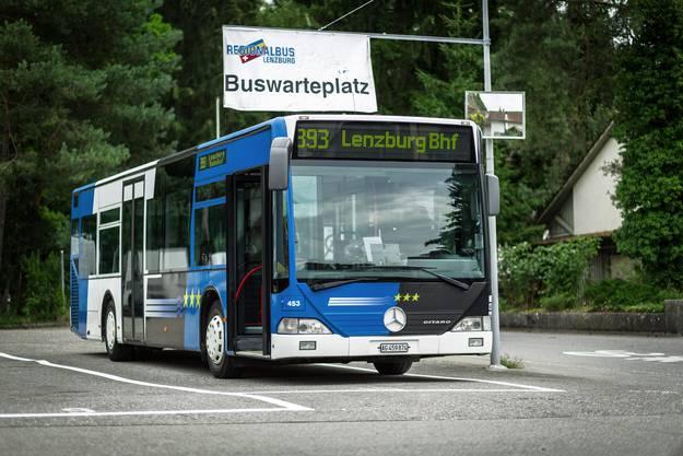 Der az-Wahlkampfbus vor seinem Umbau