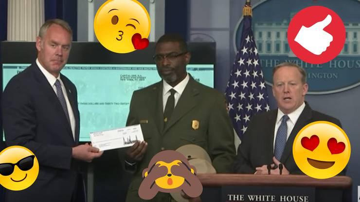 Der National Park Service bekommt einen Quartalslohn von Trump gespendet.