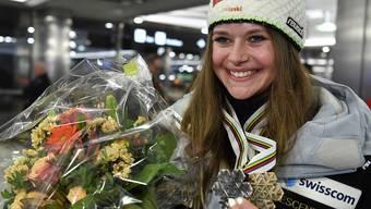 Corinne Suter holte an der WM zwei Medaillen.