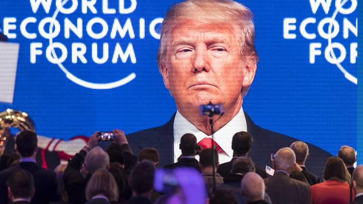 Trump bei seinem letzten Auftritt in Davos 2018.