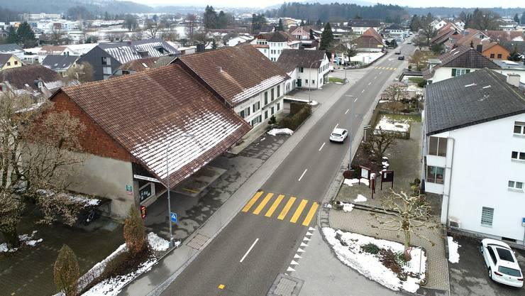 Blick auf Fulenbach als noch etwas Schnee lag.