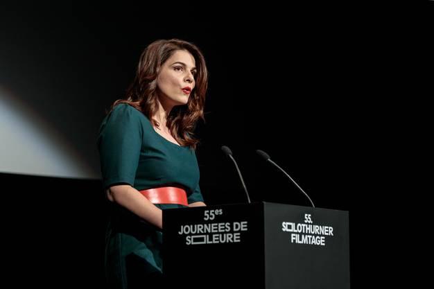 Dort hatte die neue Direktorin Anita Hugi ihren ersten Auftritt an einem Filmtage-Rednerpult