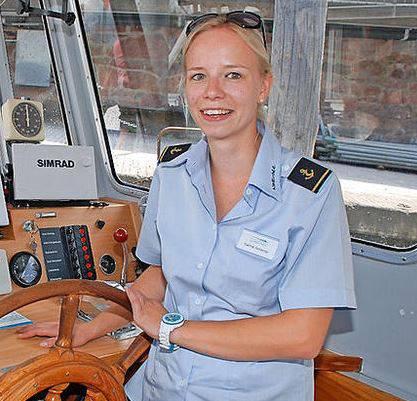 Sarina Scherrer, Kapitänin auf dem Walensee.