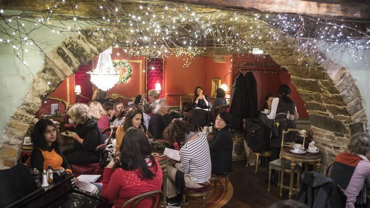 Das Café Schober hat sich schon auf die Weihnachtszeit eingestellt.