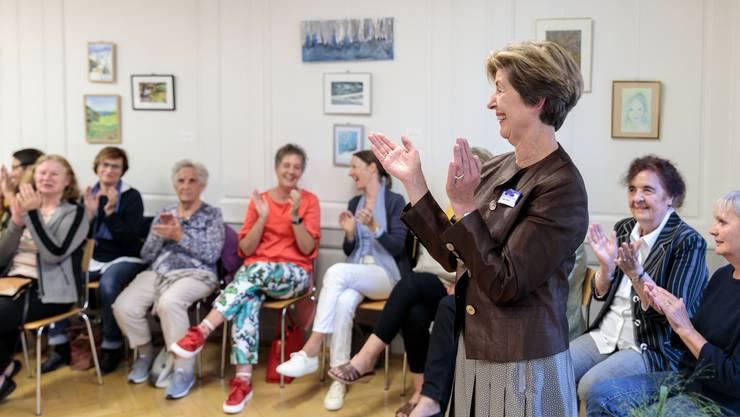 Präsidentin Brigitte Marti freut sich über das 100-Jahr-Jubiläum des Gemeinnützigen Frauenvereins.
