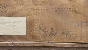 Ein Vermerk des Kunsthändlers Hildebrand Gurlitt auf einem Werk. Die lückenlose Aufklärung der Herkunft ist oft eine schwierige Arbeit.