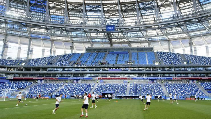 In diesem Stadion in Nischni Nowgorod wird die Schweizer Nati gegen Costa Rica antreten.