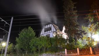 Leerstehende Villa in Ettingen brennt