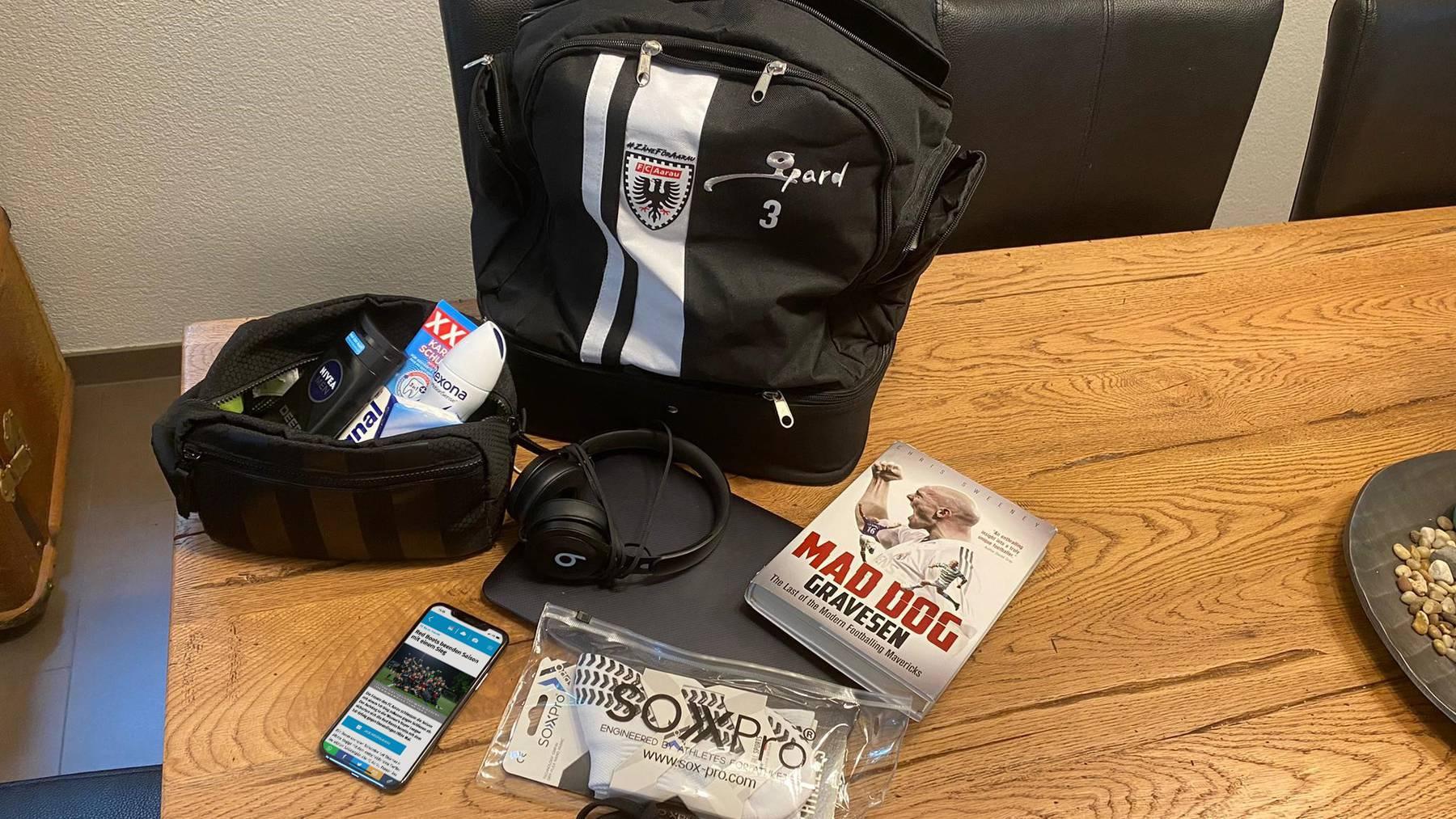 Welchem FCA-Spieler gehört diese Tasche?