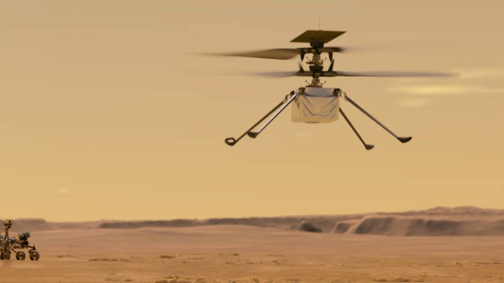 Erster Flug auf einem anderen Planeten: Mars-Heli vor Premiere