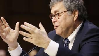 William Barr spricht am Dienstag vor dem Justizausschuss des Senats in Washington.