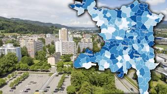 In Spreitenbach ist der Ausländeranteil mit 50.3 Prozent am höchsten