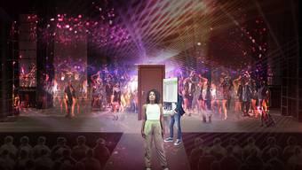 """Bühnenbild des Musicals """"Wüstenblume"""", das am 22. Februar 2020 am Theater St. Gallen uraufgeführt wird."""