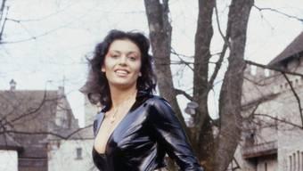 Monika Kälin 1981 auf Schloss Lenzburg