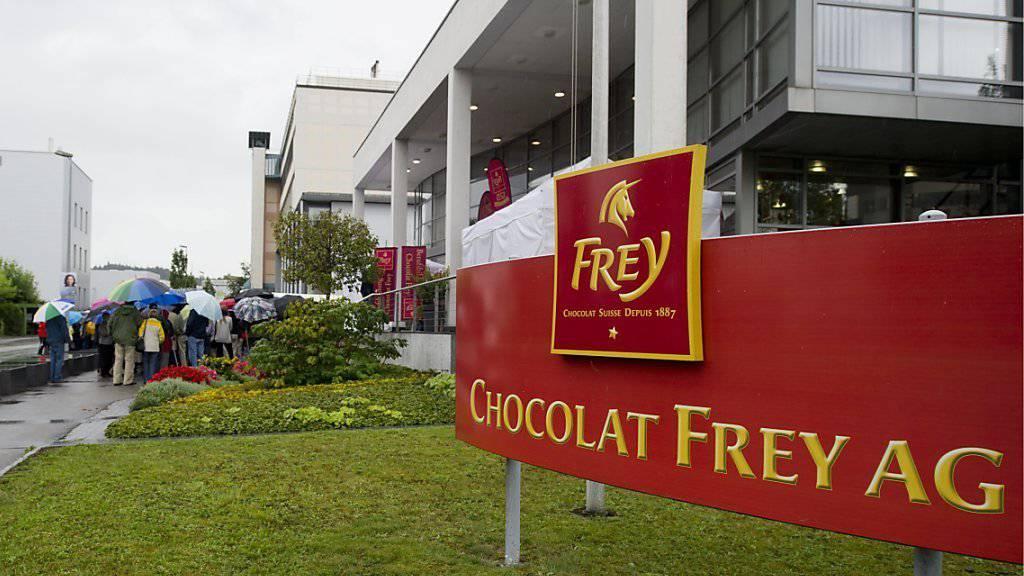 Hier werden Stellen abgebaut: Fabrikationsgebäude von Chocolat Frey in Buchs AG.