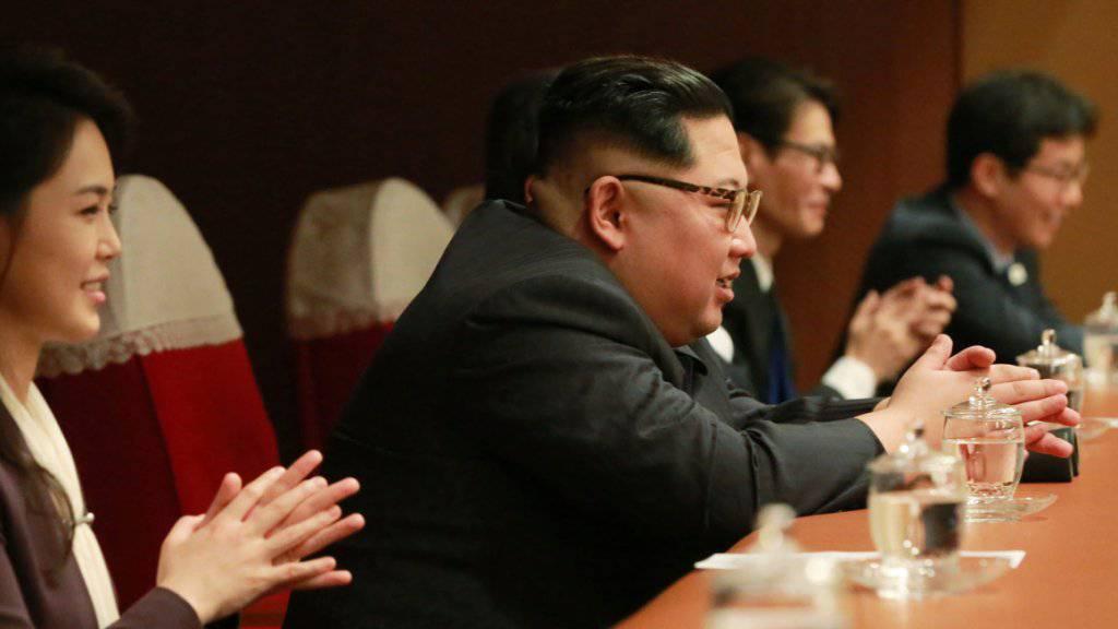 """Sprach zum ersten Mal offiziell von einem """"Dialog"""" mit den USA: Nordkoreas Machthaber Kim Jong Un. (Archivbild)"""