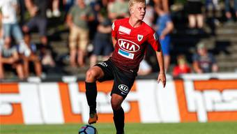 Mats Hammerich trainiert nicht nur beim FC Aarau, sondern gehört auch zum Kader der Schweizer U20-Auswahl der Nationalmannschaft.