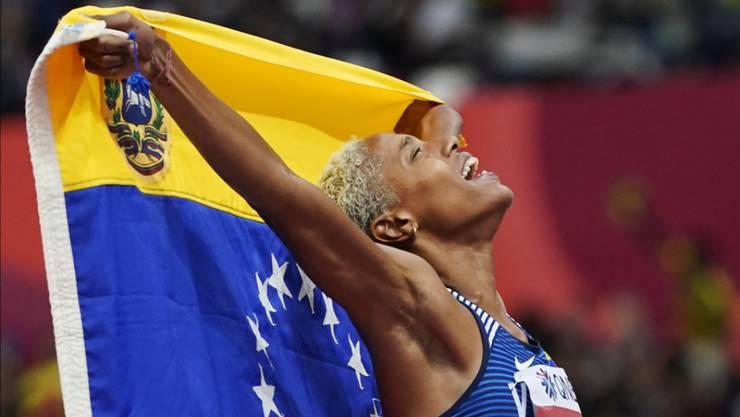 Neue Weltrekordhalterin in der Halle: die venezolanische Dreispringerin Yulimar Rojas