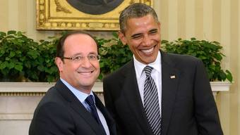 Obama (rechst) empfängt den neuen französischen Präsidenten Hollande