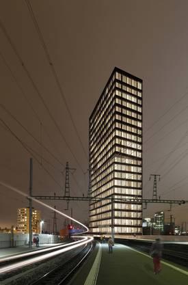 Andreasturm Bürogebäude beim Bahnhof Oerlikon