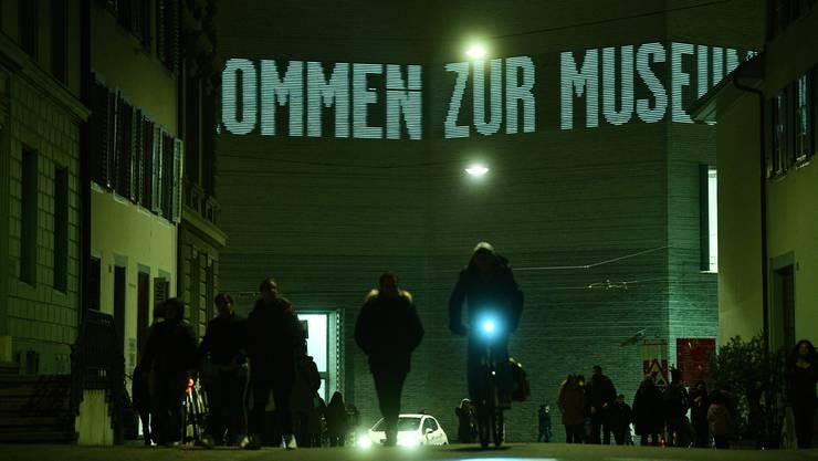 Das Kunstmuseum bei der Museumsnacht Basel 2019.