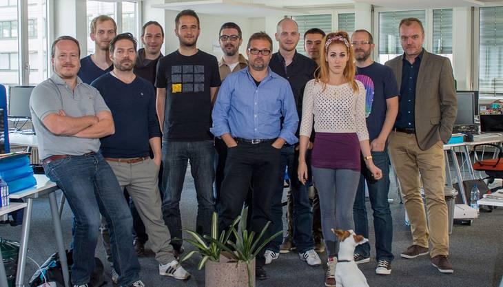 asdf Bereit für den Start: Ein Teil des 55-köpfigen «Watson»-Teams im Zürcher Büro. Mathias Marx