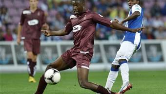 Génséric Kusunga (am Ball) schaffte bei Basel den Durchbruch nicht und wurde an Servette ausgeliehen.Key