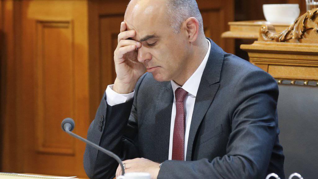 Bundesrat Alain Berset vertrat die Reform der Altersvorsorge ein letztes Mal im Ständerat. Nach eigenen Angaben hat er sich in den Räten und in den Kommissionen während über 170 Stunden für die Vorlage eingesetzt.