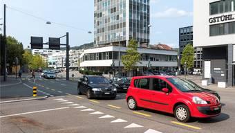 Die Stadt Baden will auf der Gstühl-Kreuzung eine fixe Radaranlage montieren.