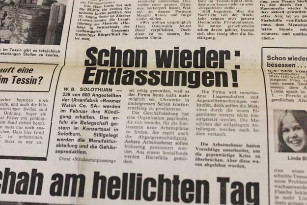 Krise - Zeitungsausschnitt von 1975