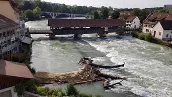 Dieses Foto von der Situation in Bremgarten postete Astrid Linder auf Facebook.