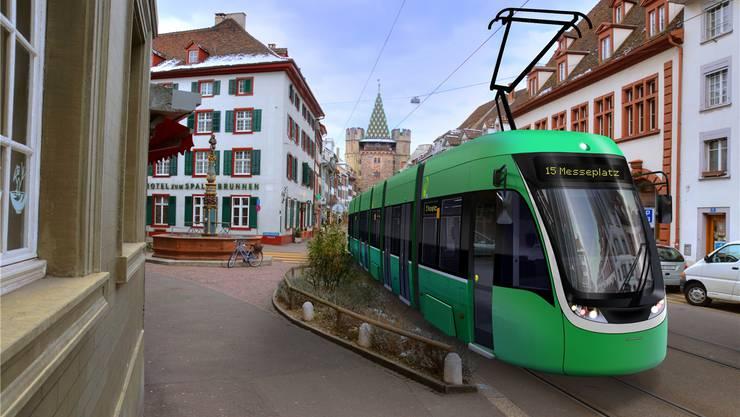 Gudenraths Vermächtnis: Die neuen Flexity-Trams. (Visualisierung/ zvg)