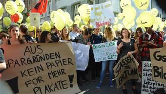 Im Sommer protestierten die Personalverbände gegen die Sparpläne in Liestal. Nicole Nars/Archiv