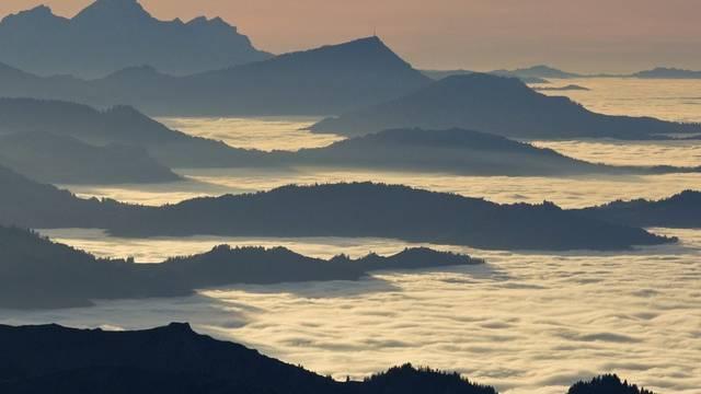 Der Nebel hält den Feinstaub zurück: Blick vom Säntis (Archiv)