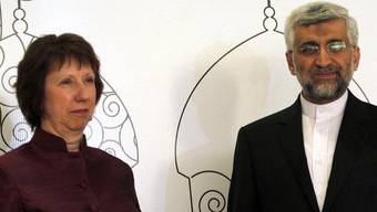 Die EU-Aussenbeauftragte Catherine Ashton und der iranische Chefunterhändler Said Dschalili