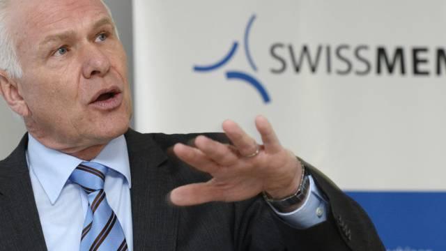 Swissmem-Präsident Hans Hess vor den Medien in Zürich