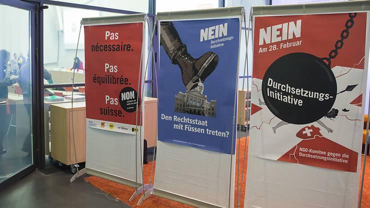 Die Solothurner Regierung spricht sich gegen die Durchsetzungsinitiative aus. Die SVP ist enttäuscht.
