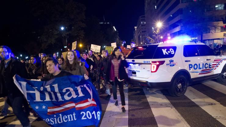 Hier demonstrieren US-Bürger in Washington.