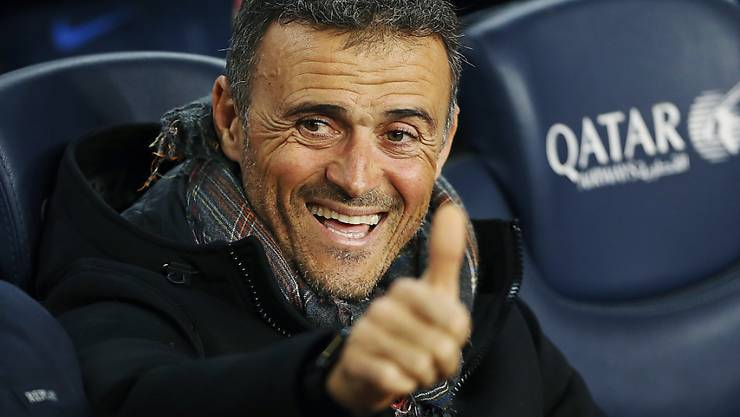 Daumen hoch: Luis Enrique führt in den nächsten zwei Jahren Spaniens Nationalmannschaft