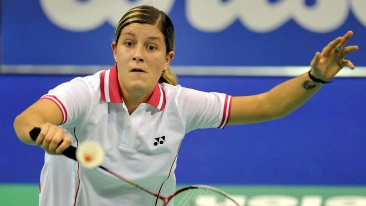 Für die Walliserin Jeanine Cicognini wäre in Basel der Einzug in die zweite Runde bereits ein Erfolg. keystone