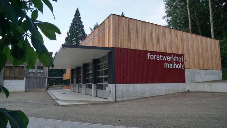 Der neu erstellte Forstwerkhof Maiholz