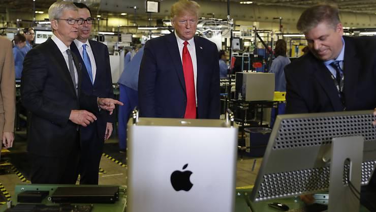 US-Präsident Donald Trump macht Apple Hoffnung auf weitere Ausnahmen von den amerikanischen Zusatzzöllen auf Waren aus China im laufenden Handelskonflikt mit Peking.