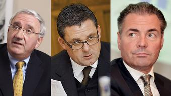Stolze 39,3 Milliarden Franken bringen die reichsten Baslerinnen und Basler zusammen auf die Waage. Im Bild: Jean-Paul Clozel, Thomas Straumann und Eric Sarasin (von links).