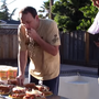 Wettess-König Joey Chestnut trainiert hart für das Internationale Hotdog-Wettessen.