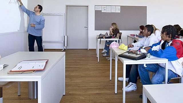 Unterricht am Gymnasium in Payerne