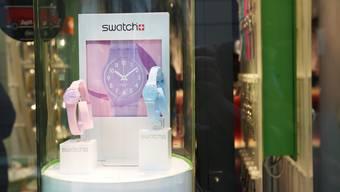 Schaufenster von Swatch.