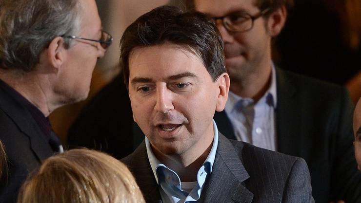 Ratlose Gesichter: Präsident David Wüest und Parteifreunde im Wahlforum der kantonalen Erneuerungswahlen 2012 in der Messe.juri junkov