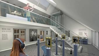 So wird das Museum Schiff künftig aussehen – wenn die Kredite für Sanierung und Erweiterung am 9. Februar bestätigt werden.