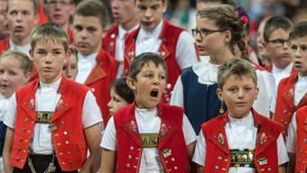 Appenzeller Kinderjodlerchor am Eidgenössischen Jodlerfest im Jahr 2014. (Archivbild)